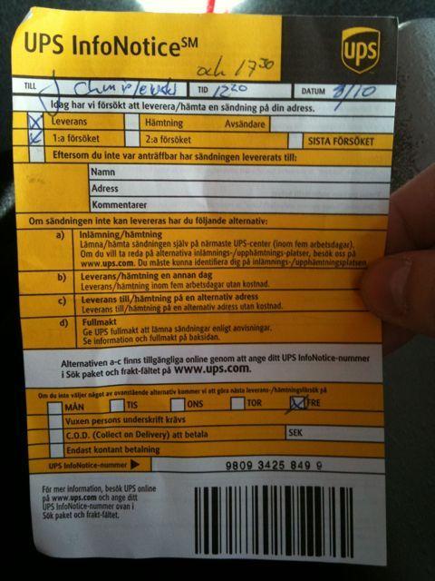 info notice nummer ups